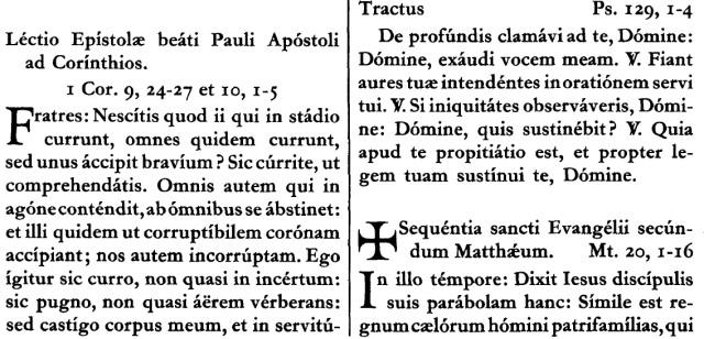 Septuagesima-Missale Romanum