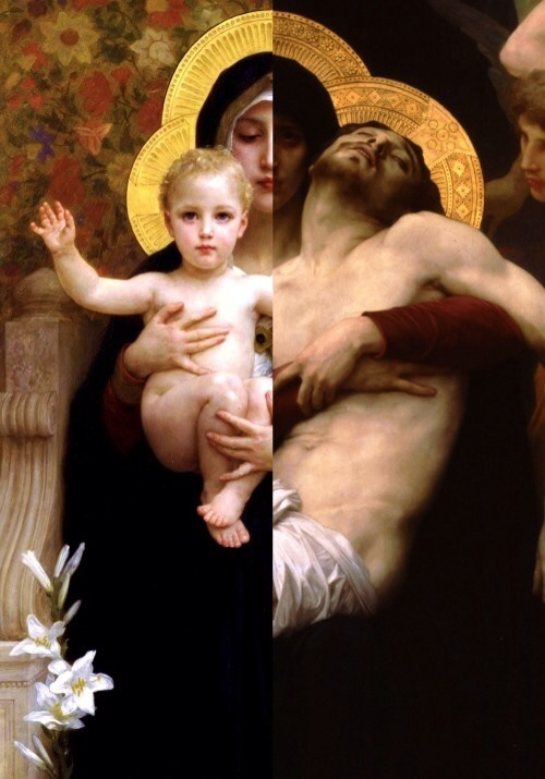 Blessed Mother - Infant - Crucified