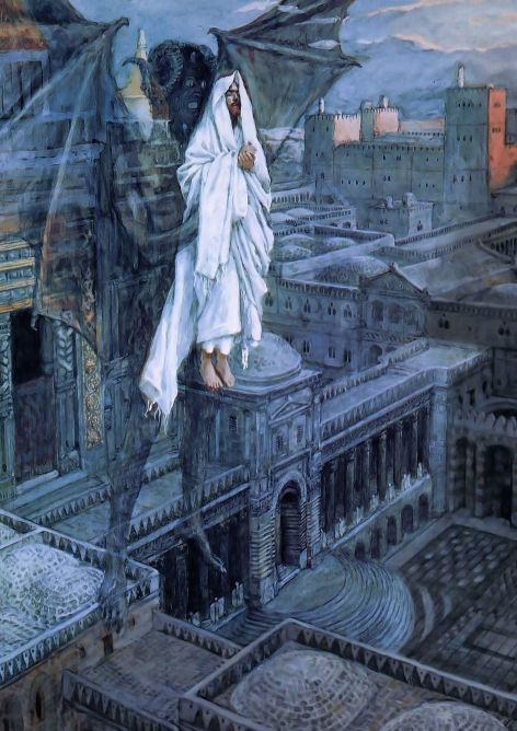 Jesus Carried up to a Pinnacle of the Temple - Tissot - 1894