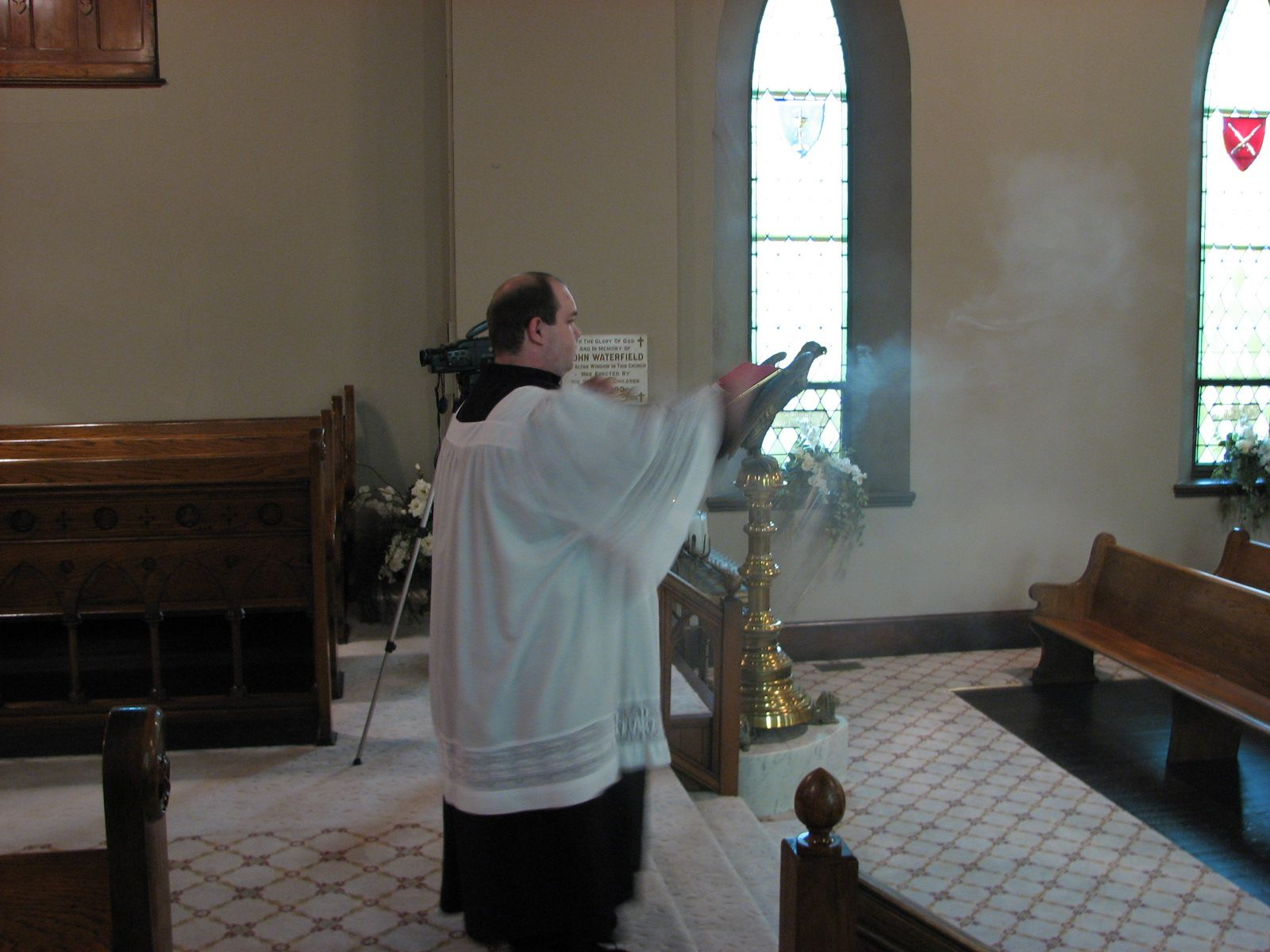 Thurifer at Consecration 9-9-2007